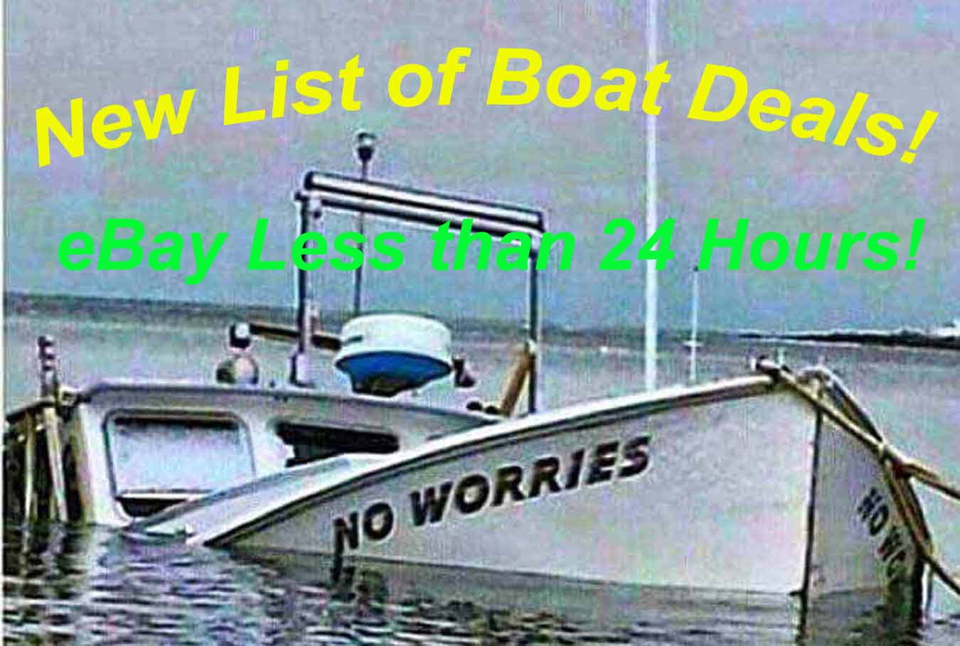 Ebay Sailboat Auctions w/ Less than 24 Hours to Go